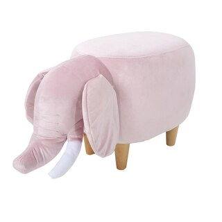 Christopher Knight Home Rosie Velvet Elephant Ottoman (Option: Pink)