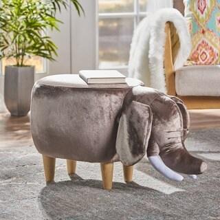 Christopher Knight Home Rosie Velvet Elephant Ottoman