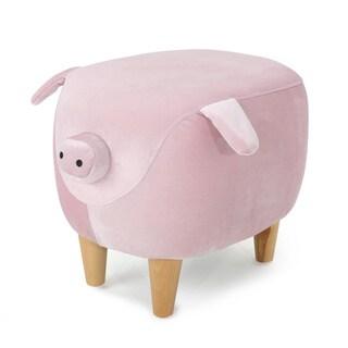 Burton Velvet Pig Ottoman by Christopher Knight Home