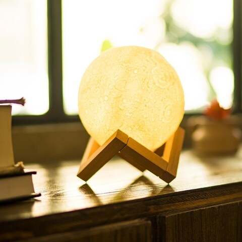 3D Print LED Moon Lamp USB LED Night Light with Touch Sensor Technology