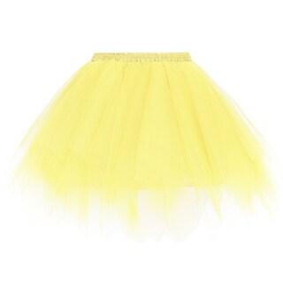 Simplicity Women's 50s Vintage Ballet Bubble Tutu Skirt/Petticoat (Option: Yellow)