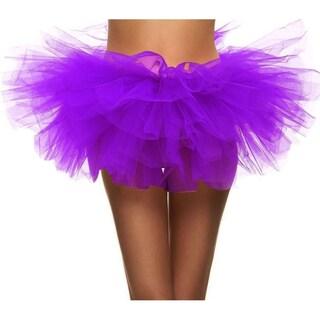 Simplicity Women's 5-layered Tulle Ballerina Dance Party Tutu Skirt