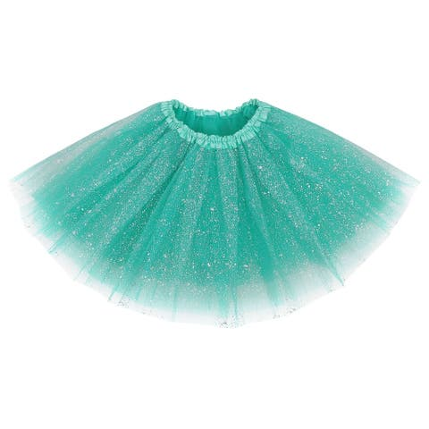 AshopZ Women's Classic Triple Layered Tulle Tutu Skirt w/ Sparkling Sequins