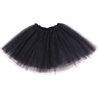 Simplicity Women's 3-Layered Tulle Fiber Classic Elastic Ballet Tutu (Option: Orange)