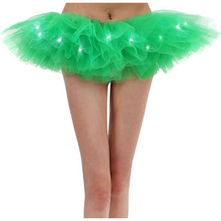 AshopZ Classic 5 Layered LED Light Up Party Costume Tutu Skirt
