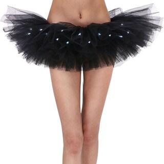 AshopZ Classic 5 Layered LED Light Up Party Costume Tutu Skirt