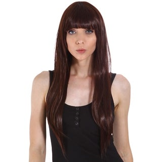 Simplicity Women's Daily Wear and Costume Wig - Long Straight with Front Bangs