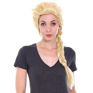 Simplicity Women's Frozen Elsa Adult Costume Wig for Halloween Light Blonde