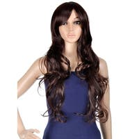 Simplicity Women's Daily Wear and Costume Wig - Long Curly Brown 75