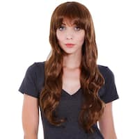Simplicity Women's Long Curly Wave Wig with Wig Cap