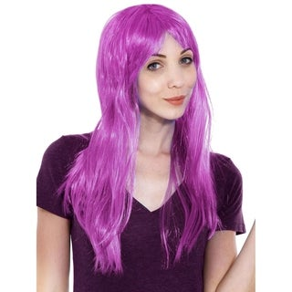 Simplicity Women's Daily Wear and Costume Wig Purple Straight