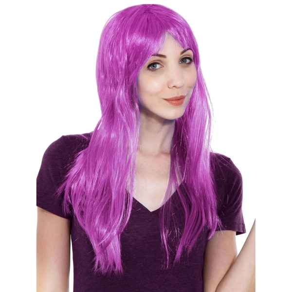 Shop Simplicity Women s Daily Wear and Costume Wig Purple Straight ... 0683e8f71