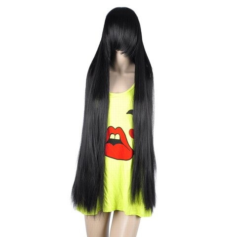 Simplicity Women's Long Straight Hair Extension Party Wigs