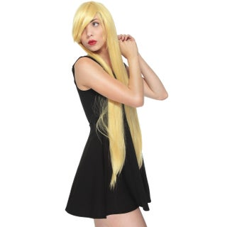 Simplicity Women's Long Straight Hair Extension Party Wigs (Option: Gold)