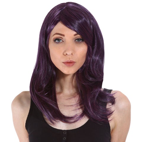 Gardinesca Women's Long Wavy Curly Natural Looking Full Hair Wig with Included Wig Cap