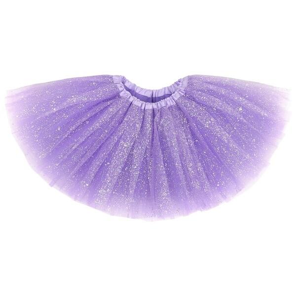 GLITTER SPARKLE TUTU DRESS SEQUIN TULLE DRESS Kids Girls Ballet Dance Tutu Skirt