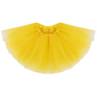 Simplicity Girls' Elastic Waist Ballet Tutu (Option: Yellow)
