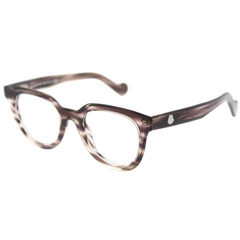 Moncler Square ML 5005 081 Unisex Grey Horn Frame Eyeglasses