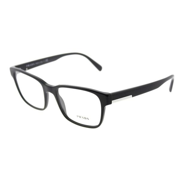 16c4b7ba11f Shop Prada Rectangle PR 06UV 1AB1O1 Unisex Black Frame Eyeglasses ...