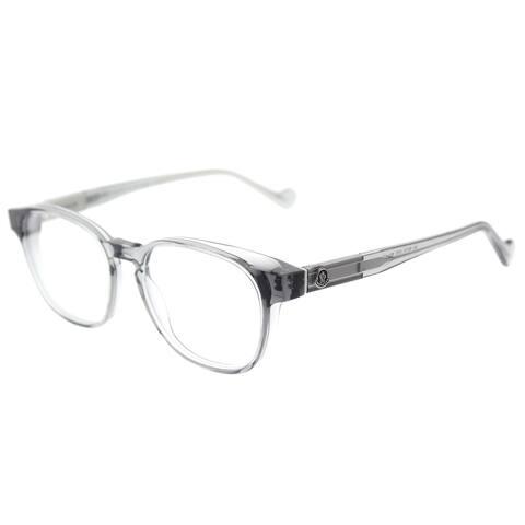 Moncler Square ML 5013 075 Unisex Transparent Grey Frame Eyeglasses