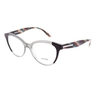 Prada Oval PR 05UV VYN1O1 Womens Plum Grey Plum Frame Eyeglasses