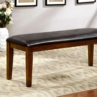 Hillsview I Transitional Style Bench , Brown Cherry