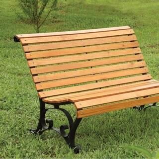 Benzara Sedona Oak-finish Wood Transitional Patio Bench