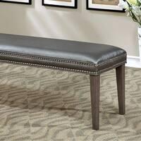 Sturgis Contemporary Style Bench , Dark Gray