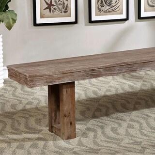 Benzara Lidgerwood Cottage Natural Tone Bench