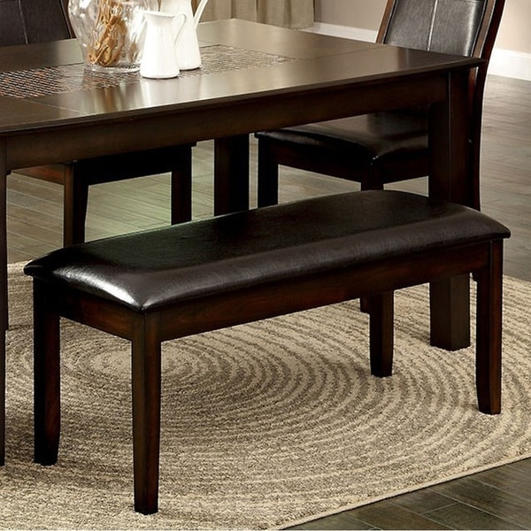 Townsend I Transitional Style Bench , Brown Cherry