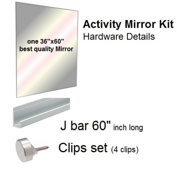 Shop Large Activity Gym Mirror Kit For Dance And Garage