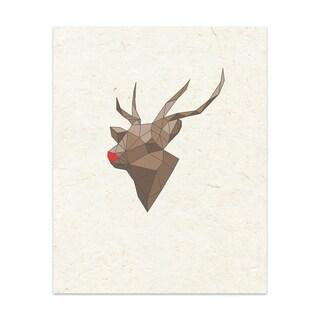 RUDOLF Handmade Paper Print By Terri Ellis (2 options available)