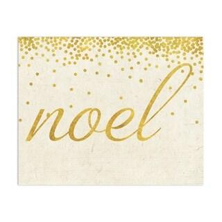 NOEL GOLD Handmade Paper Print By Terri Ellis
