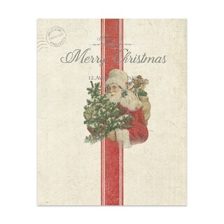 VINTAGE SANTA Handmade Paper Print By Terri Ellis (2 options available)