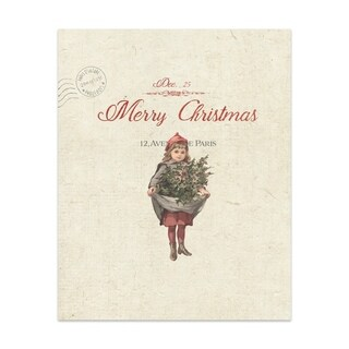 CHRISTMAS GIRL Handmade Paper Print By Terri Ellis (2 options available)