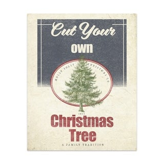 CUT YOUR OWN TREE Handmade Paper Print By Terri Ellis