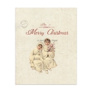 CHILDREN AT CHRISTMAS Handmade Paper Print By Terri Ellis (2 options available)