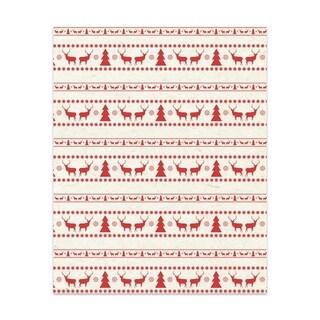 Kavka Designs Deer And Trees Handmade Paper Print By Terri Ellis