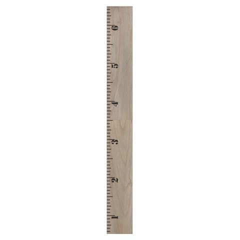 Kate and Laurel Growth Chart 6.5' Wood Wall Ruler