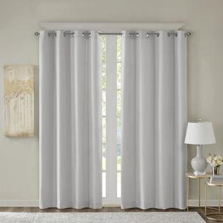 SunSmart Alma Jacquard Solid Room Darkening Grommet Curtain Panel