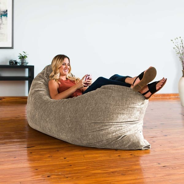 Prime Shop Jaxx Floor Pillow Bean Bag Lounger With Chenille Cover Spiritservingveterans Wood Chair Design Ideas Spiritservingveteransorg