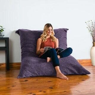 Jaxx Floor Pillow Bean Bag Lounger with Chenille Cover (Option: Purple)