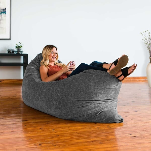 Wondrous Shop Jaxx Floor Pillow Bean Bag Lounger With Chenille Cover Gmtry Best Dining Table And Chair Ideas Images Gmtryco
