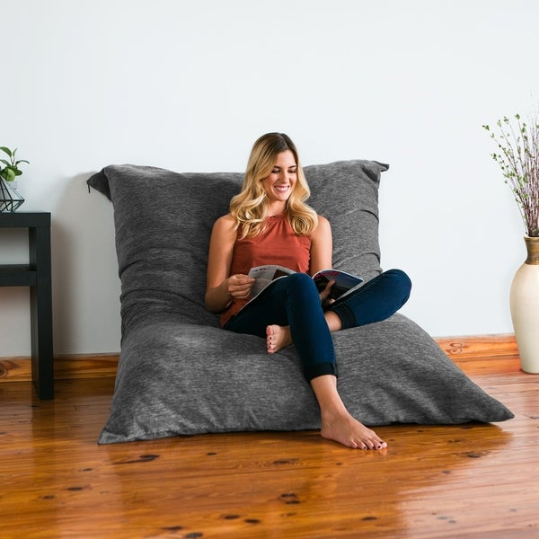 Elegant Jaxx Floor Pillow Bean Bag Lounger With Chenille Cover