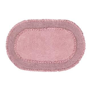 "Double Ruffle 24""X40"" Pink Bath Rug|https://ak1.ostkcdn.com/images/products/17783545/P23980148.jpg?impolicy=medium"