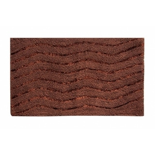 "Artesia 17""X24"" Chocolate Bath Rug"