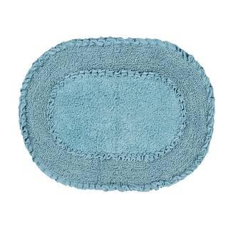 "Double Ruffle 17""X24"" Blue Bath Rug|https://ak1.ostkcdn.com/images/products/17783548/P23980140.jpg?impolicy=medium"