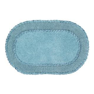 "Double Ruffle 24""X40"" Blue Bath Rug|https://ak1.ostkcdn.com/images/products/17783566/P23980151.jpg?impolicy=medium"
