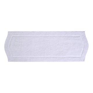 """Waterford 22""""X60"""" White Bath Rug"""