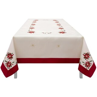 Holiday Embroidered Rectangular 54 x 72 in. Tablecloth